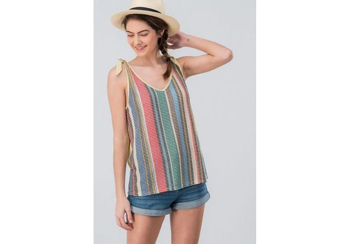 Summer Knit Shoulder Tie Top