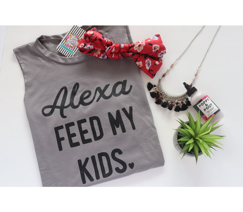 Alexa Feed My Kids Muscle Tank