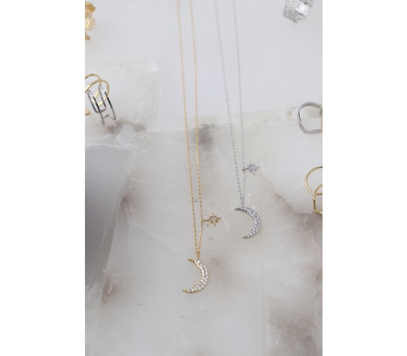 14k Gold Dipped Galaxy Necklace