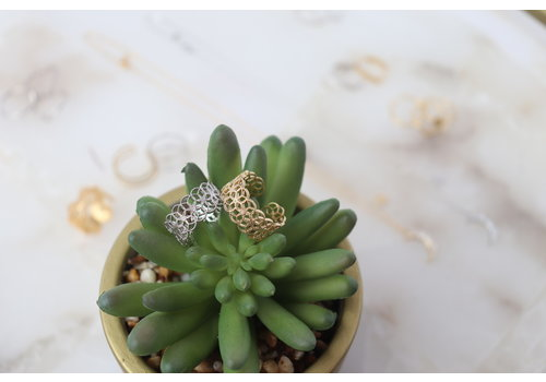 Gold Dipped Filigree Ring