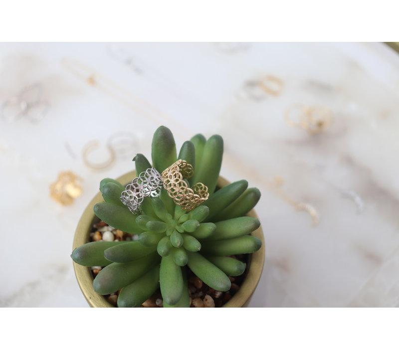 Gold Dipped Filigree Ring