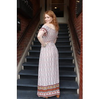 Bohemian Collect Off Shoulder Maxi Dress