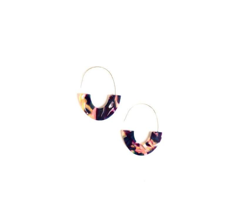 Acrylic Boat Earrings