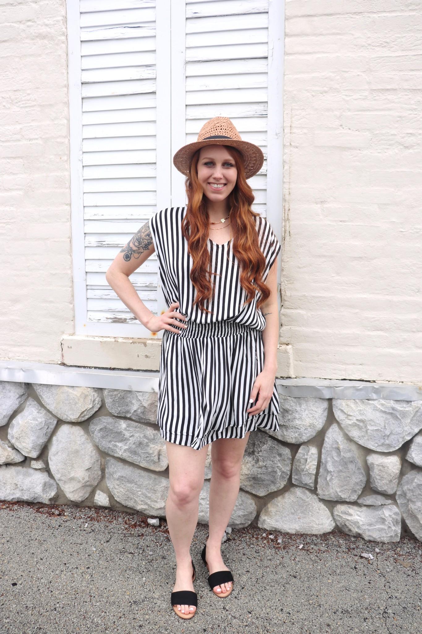 b99f2e3786b6 Black & White Stripe Smocked Sundress - Little Gypsie Boutique