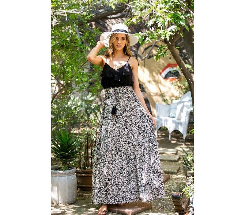 Ruffle Top Leopard Maxi Dress (Small-3X)