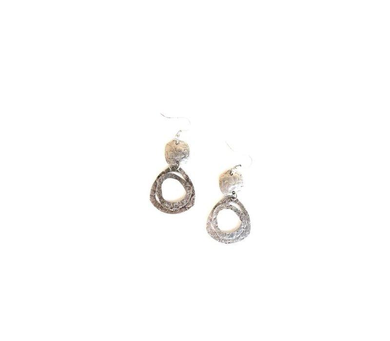 Boho Raw Circle Drop Earrings (2 options)