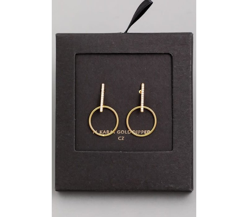 14k Gold Dip Bohemian Rhapsody Earrings