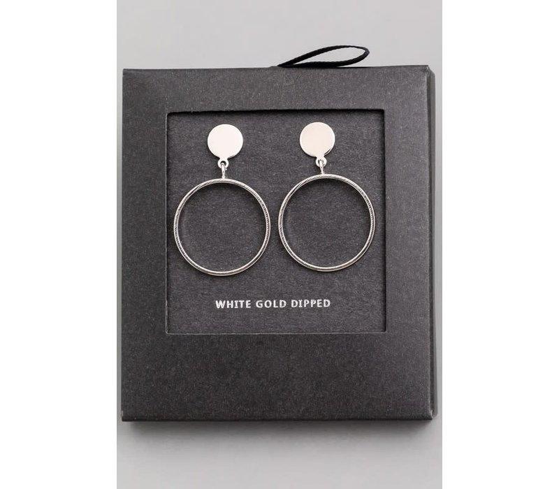 14k Gold Dip Drop Hoop Earrings