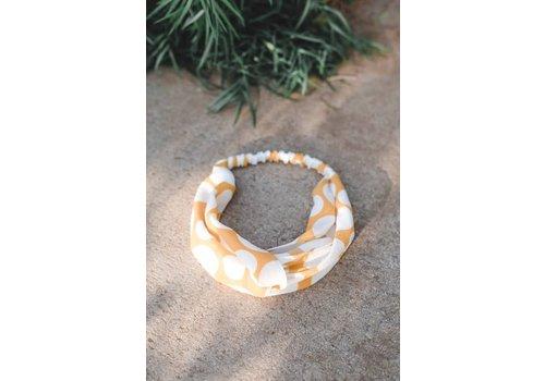 Yellow Polka Dot Turban Headband