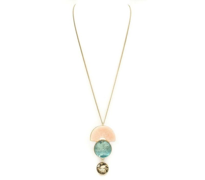 Over the Moon Stone Necklace