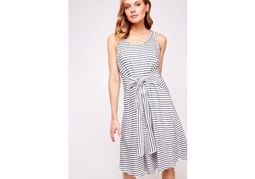 French Terry Stripe Swimsuit Cover Up / Dress