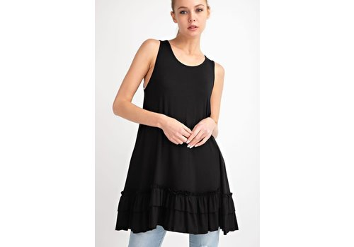 NEW Black Ruffle Tank