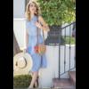 Chambray Stripe Button Down Dress