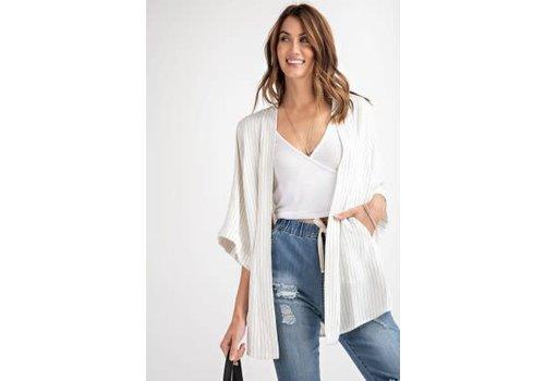 Stripe Linen Kimono Cardi