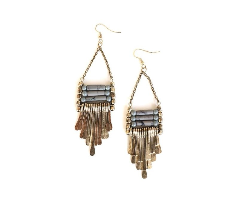 Boho Beaded Dangle Earrings