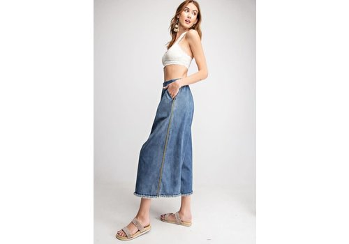 Retro Inspired Wide Leg Crop Denim