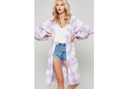 Lavender Tie Dye Kimono Cardi