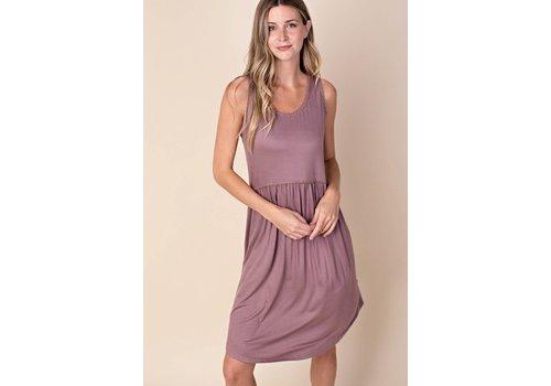 Lace Trim Pocket Tank Dress
