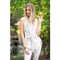 Front Tie Button Down Tank