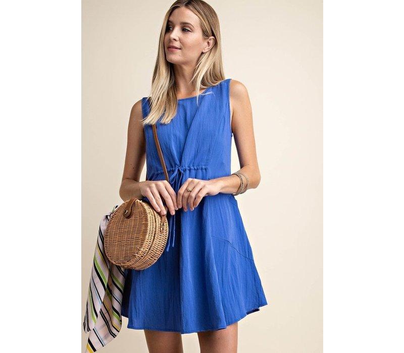 Blue Linen Sundress
