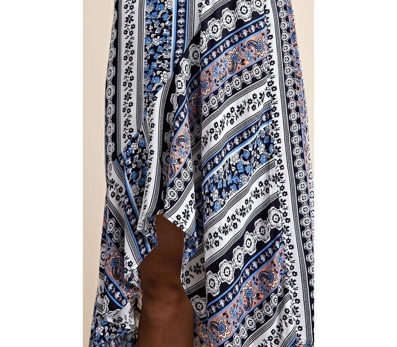 Boho Print Hi Low Skirt