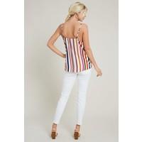 Summer Stripe Button Down Tank