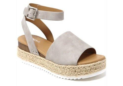 Gray Platform Sandals