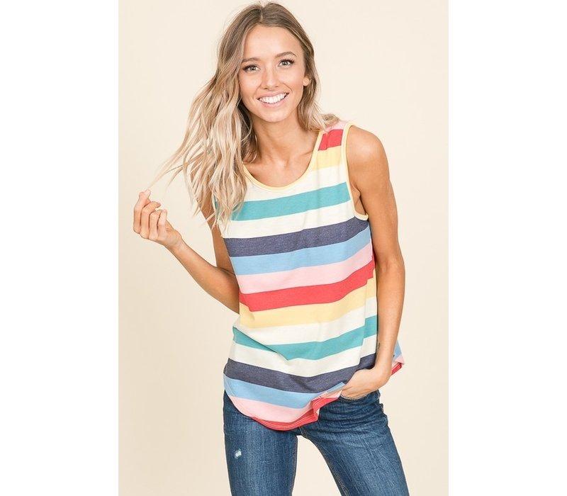 Rainbow Stripe Tank