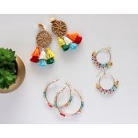 Rainbow Beaded Boho Earrings