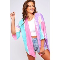 Watercolor Tie Dye Kimono