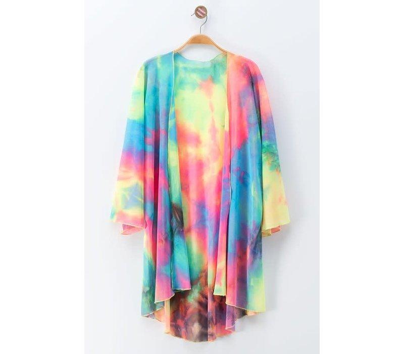 Hippie Tie Dye Kimono (Small-3X)
