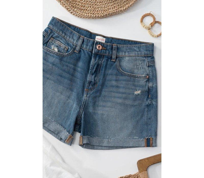 Raw Cuff Denim Shorts