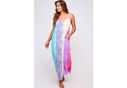 Watercolor Tie Dye Maxi Dress