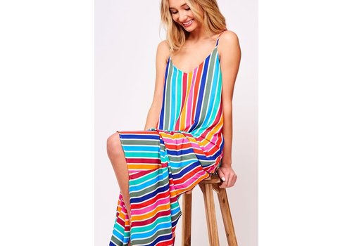 Rainbow Stripe Pocket Maxi Dress