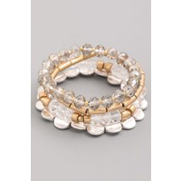 Crystal Beaded Bracelet Stack