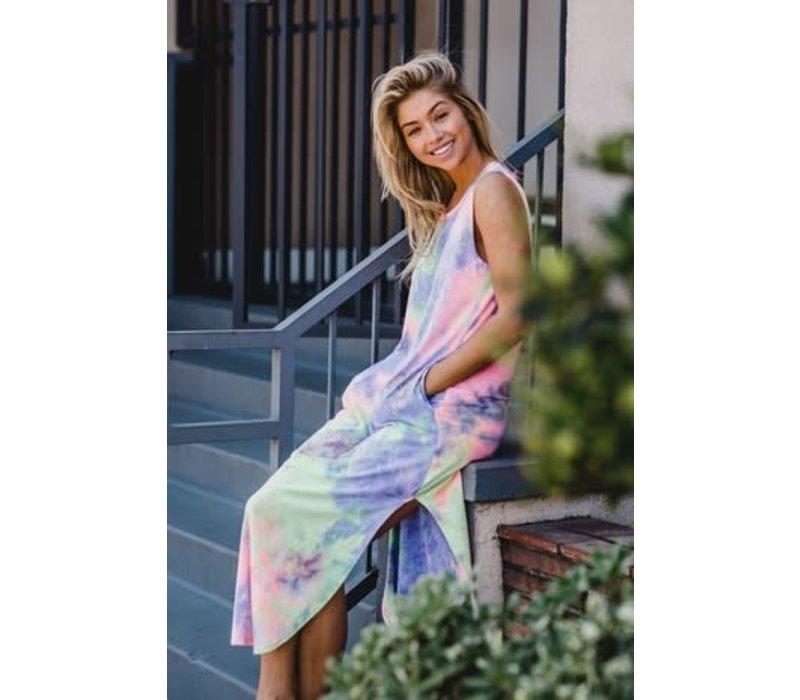 Cosmic Tie Dye Tshirt Tank Dress