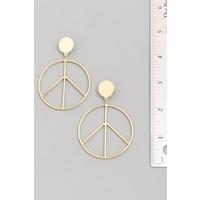 Peace Hoop Earrings