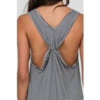 Twist Back Stripe Sundress