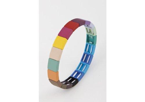 Colorful Brick Bracelets