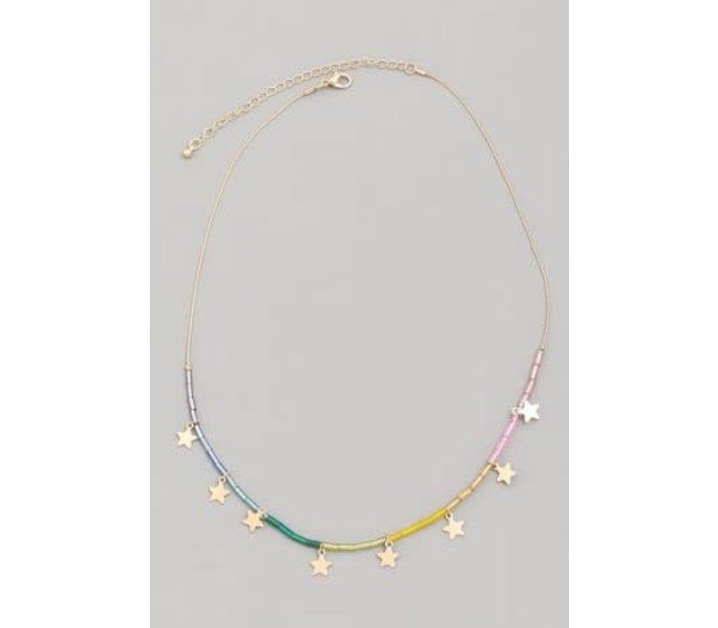 Little Gypsie Rainbow Star Necklace