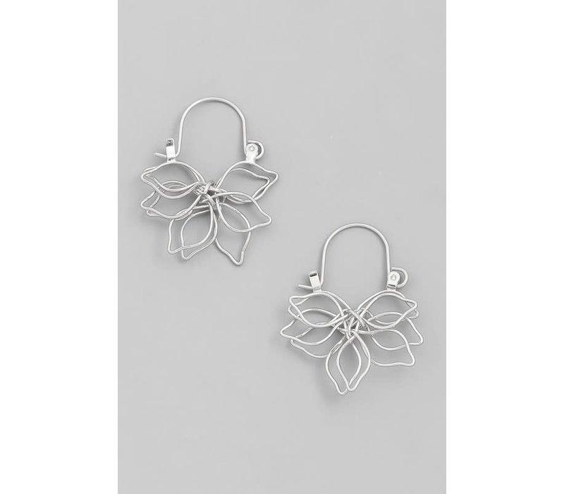 Wired Lotus Earrings