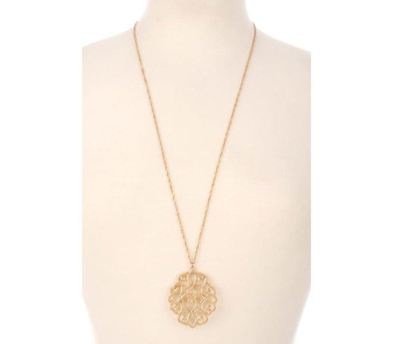 Filigree Pendant Necklace