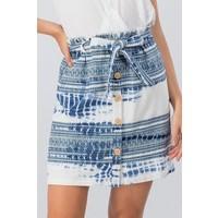 Bohemian Collect Indigo Tie Dye Skirt