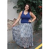 Bohemian Collect Pleated Paisley Maxi Skirt