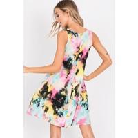 WaterColor Tie Dye Pocket Tank Dress
