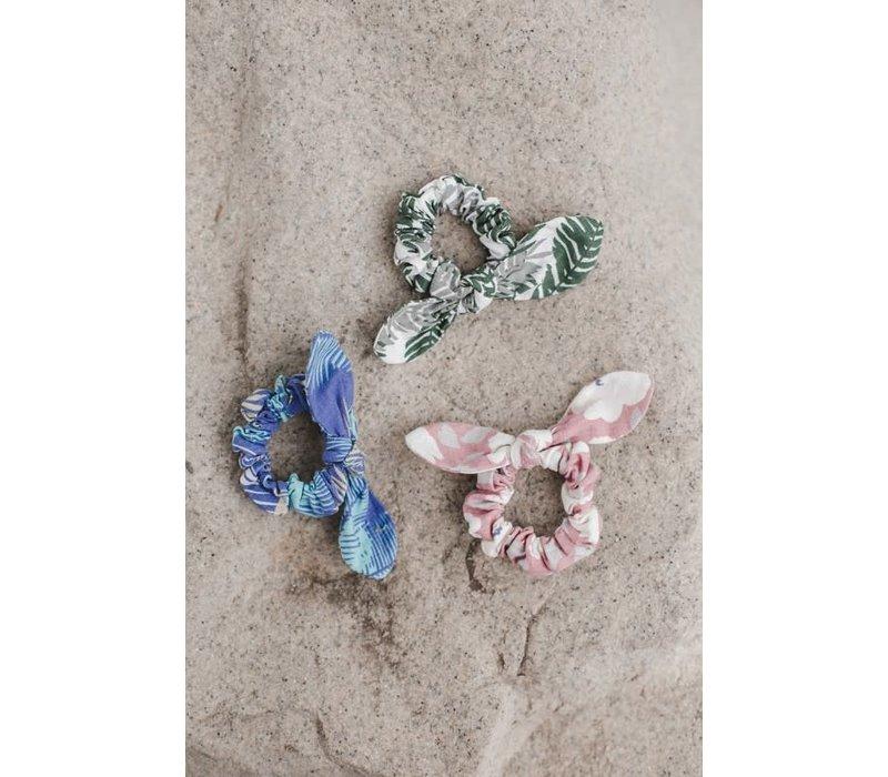 Linen Bow Scrunchies