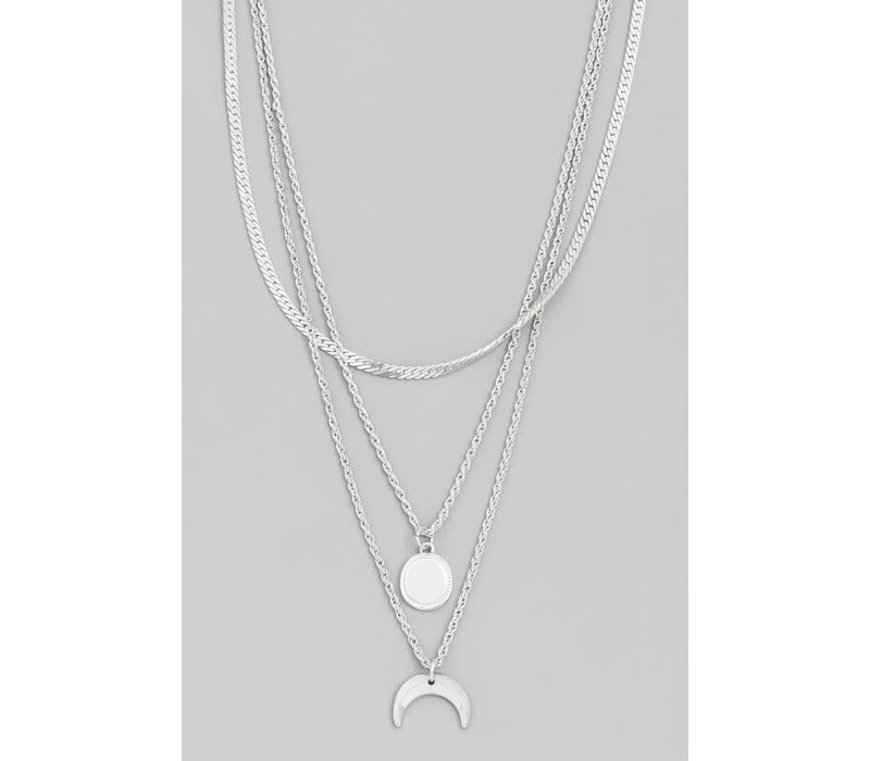 Layered Sun & Moon Necklace