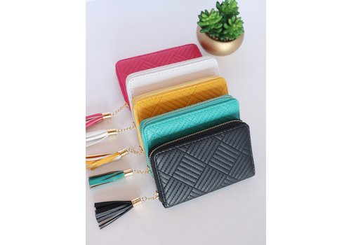 Quilted Tassel Wallets
