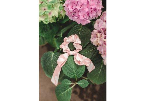 Pink Floral Swirl Scarf Scrunchie