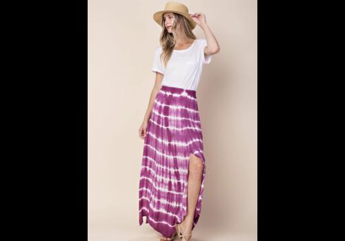 Orchid Tie Dye Midi Skirt